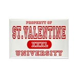 St. Valentine University Rectangle Magnet