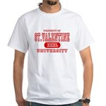 St. Valentine University White T-Shirt