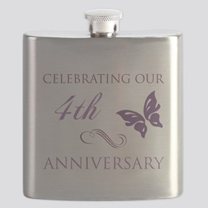 4th Wedding Aniversary (Butterfly) Flask