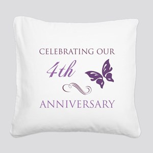 4th Wedding Aniversary (Butterfly) Square Canvas P