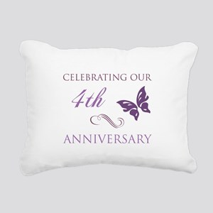 4th Wedding Aniversary (Butterfly) Rectangular Can