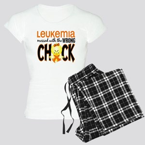 Leukemia Messed With Wrong Chick Women's Light Paj
