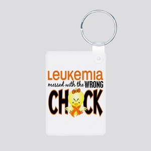Leukemia Messed With Wrong Chick Aluminum Photo Ke