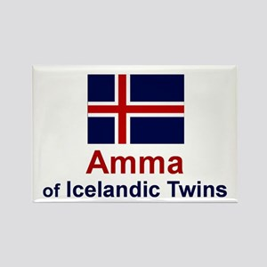 Icelandic Twins-Amma (Grandmother) Rectangle Magne