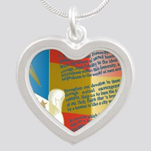 ADG-Background-4(enlongated) Silver Heart Necklace