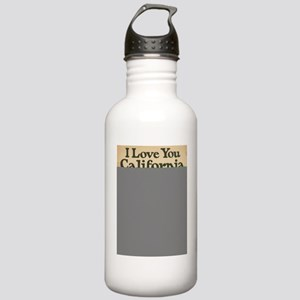 I Love You California Stainless Water Bottle 1.0L