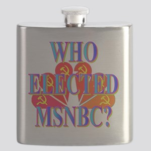 WHO ELECTED MSNBC(white) Flask