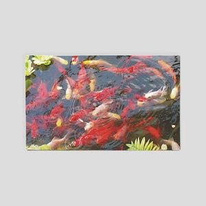 Goldfish - large poster 3'x5' Area Rug