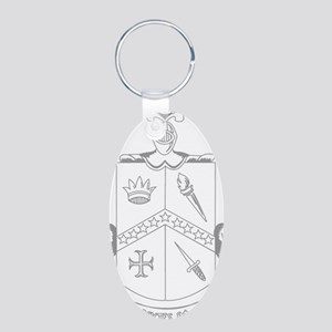 Stationary 4 Aluminum Oval Keychain