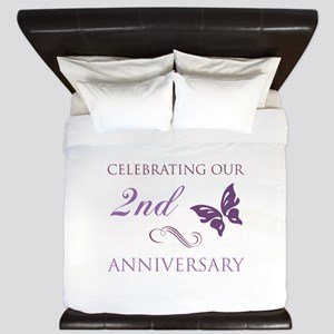 2nd Wedding Aniversary (Butterfly) King Duvet