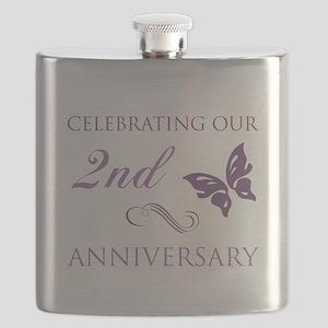 2nd Wedding Aniversary (Butterfly) Flask