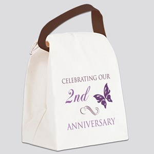 2nd Wedding Aniversary (Butterfly) Canvas Lunch Ba