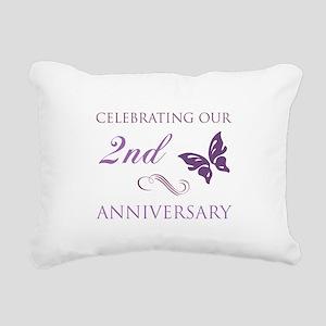2nd Wedding Aniversary (Butterfly) Rectangular Can