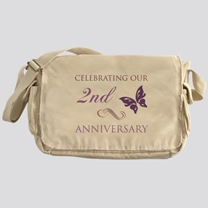 2nd Wedding Aniversary (Butterfly) Messenger Bag