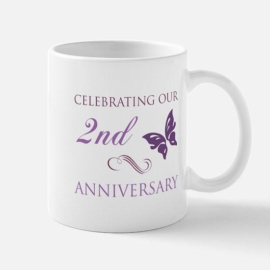 2nd Wedding Aniversary (Butterfly) Mug