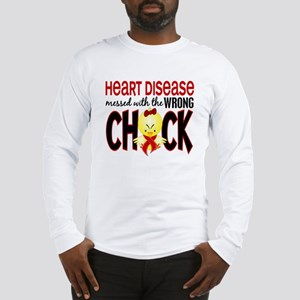 Heart Disease Messed With Wrong Chick Long Sleeve