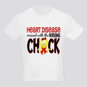 Heart Disease Messed With Wrong Chick Kids Light T