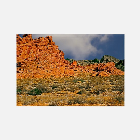 Valley of Fire Postcards, Note Ca Rectangle Magnet
