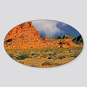 Valley of Fire Postcards, Note Card Sticker (Oval)