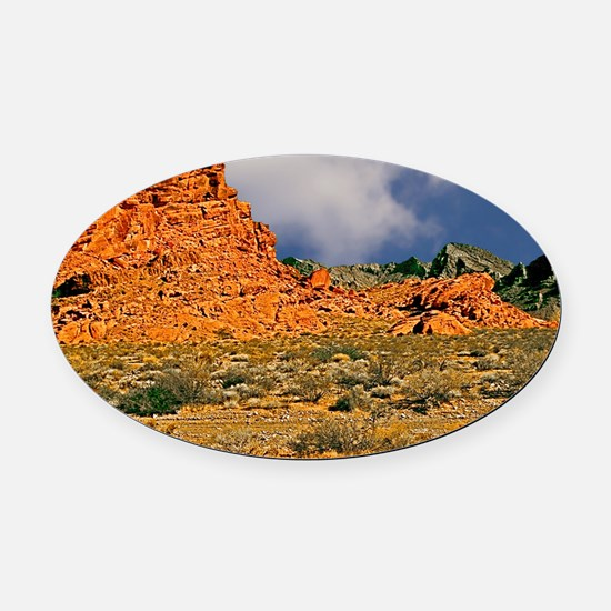 Valley of Fire Postcards, Note Car Oval Car Magnet