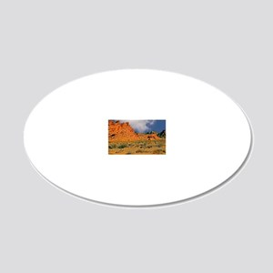 Valley of Fire Postcards, No 20x12 Oval Wall Decal