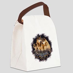 Golden Wolves Canvas Lunch Bag