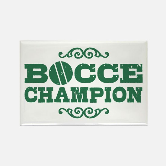 Bocce Champion Rectangle Magnet