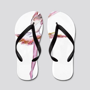 795d3a22371ad ballerina fine art painting in pink and Flip Flops
