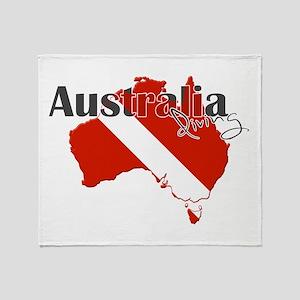 Australia Diver Throw Blanket