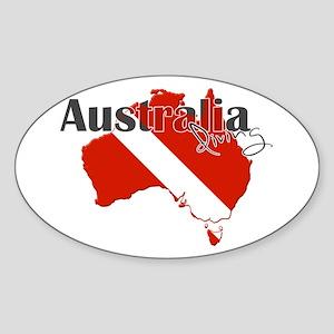 Australia Diver Sticker (Oval)