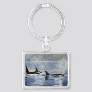 whales Landscape Keychain