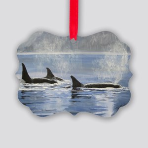 whales Picture Ornament