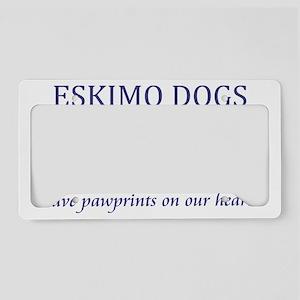 FIN-eskimo-dogs-pawprints-CRO License Plate Holder