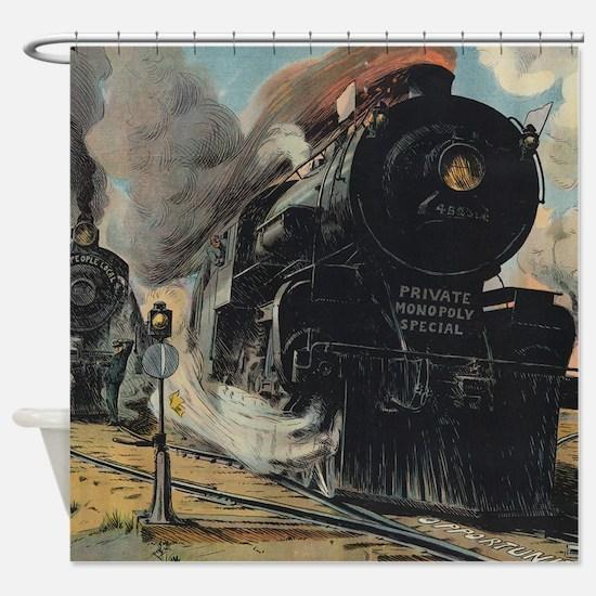 Steam Locomotive Shower Curtain