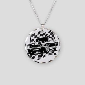 68500black Necklace Circle Charm