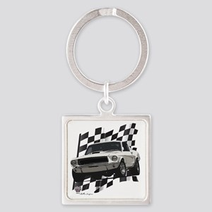 68stang Square Keychain