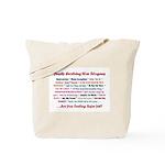 Bush War Slogans  Tote Bag