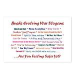 Bush War Slogans  Postcards (Package of 8)