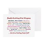 Bush War Slogans  Greeting Cards (Pk of 10)