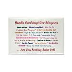 Bush War Slogans Rectangle Magnet (100 pack)
