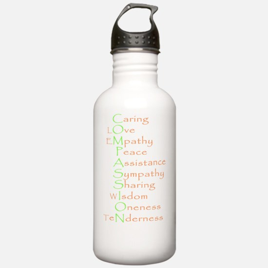 2-compassion earth ton Water Bottle