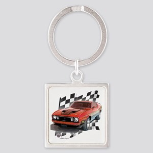 73stang Square Keychain