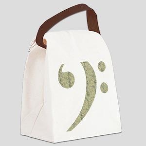 Alligator Bass Canvas Lunch Bag