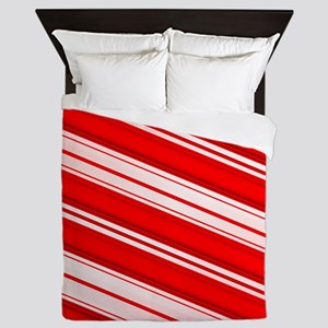 Peppermint Candy Cane Queen Duvet