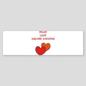 square dancing Bumper Sticker