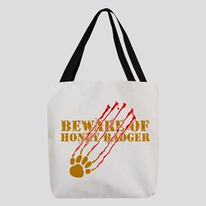 Beware of honey badger Polyester Tote Bag