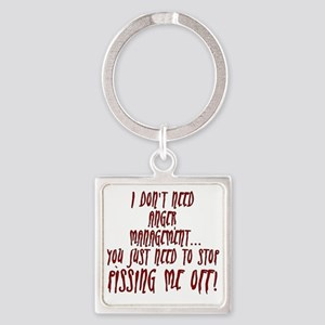 anger-management Square Keychain