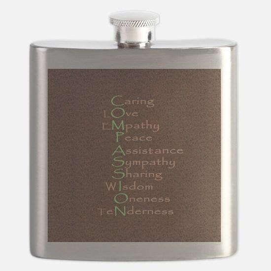 2-compassion tile Flask