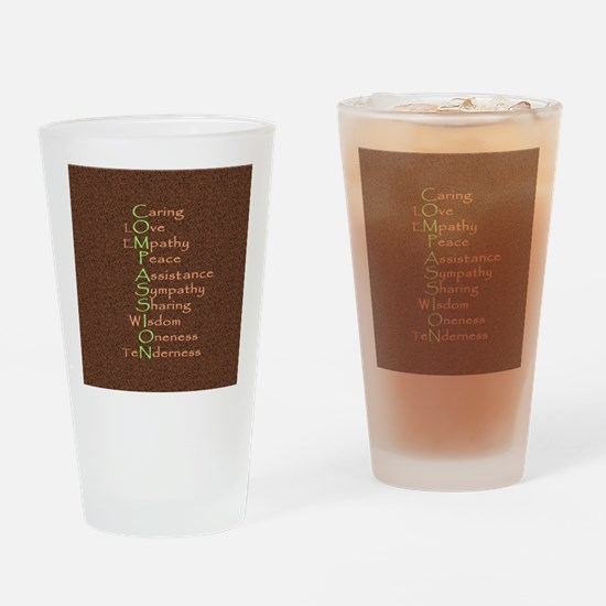 2-compassion tile Drinking Glass