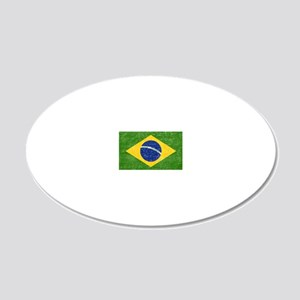 vintage-brazil-flag 20x12 Oval Wall Decal